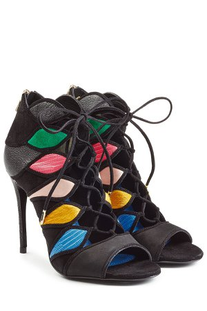 Lace-Up Sandals with Leather Gr. US 6