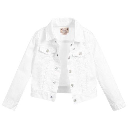 Polo Ralph Lauren - Girls White Denim Jacket | Childrensalon
