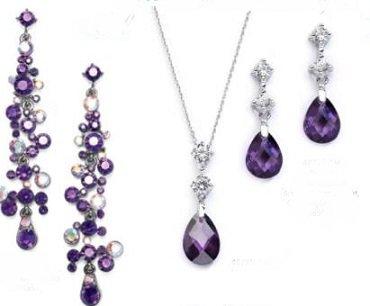 Purple Bridesmaid Jewelry Sets