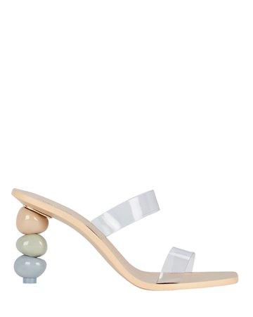 Cult Gaia Meta PVC Slide Sandals   INTERMIX®