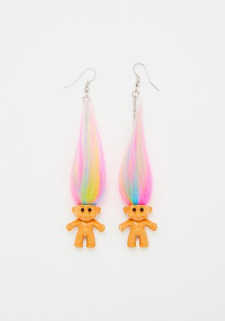 Good Luck Trolls x Dolls Kill Troll Earrings | Dolls Kill