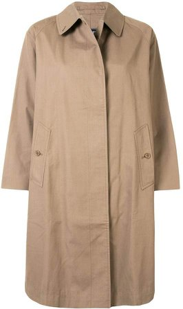 Burberry Pre Owned Midi Length Trench Coat