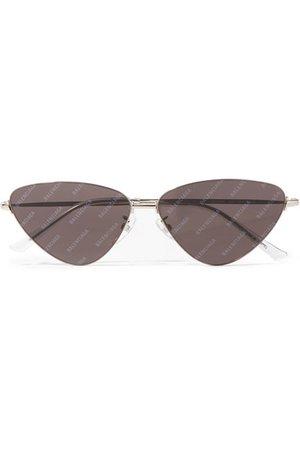 Balenciaga   Invisible cat-eye silver-tone sunglasses   NET-A-PORTER.COM