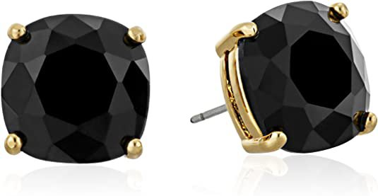 """Amazon.com: kate spade new york """"Essentials"""" Jet Small Square Studs: Stud Earrings: Clothing, Shoes & Jewelry"""