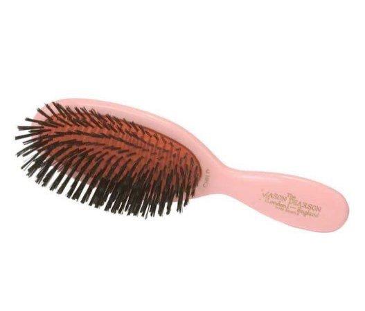 pink hairbrush