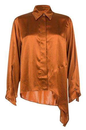 MYKKE HOFMANN - Satin silk blouse Linka