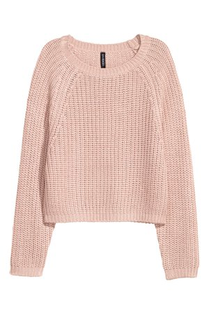 Rib-knit Sweater - Antique rose - | H&M US