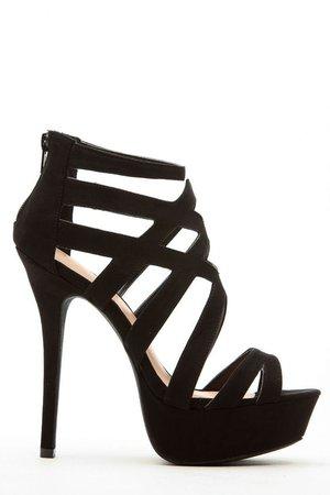 Strap Black Heels