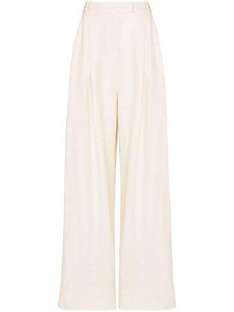 Three Graces, wide-leg linen trousers