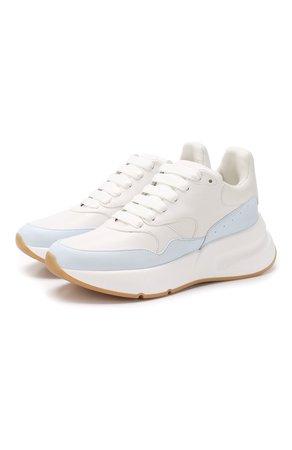 Женские белые кожаные кроссовки ALEXANDER MCQUEEN — купить за 42550 руб. в интернет-магазине ЦУМ, арт. 559706/WHRU4