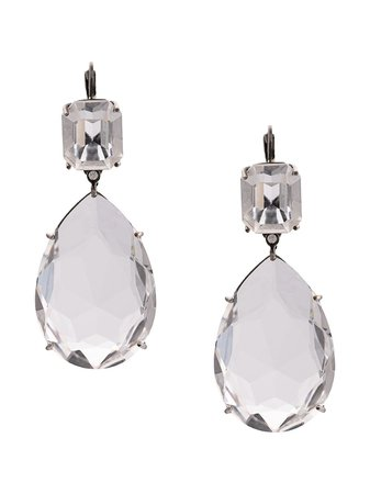 Alexander McQueen clear crystal droplet earrings £450 - Shop Online - Fast Global Shipping, Price
