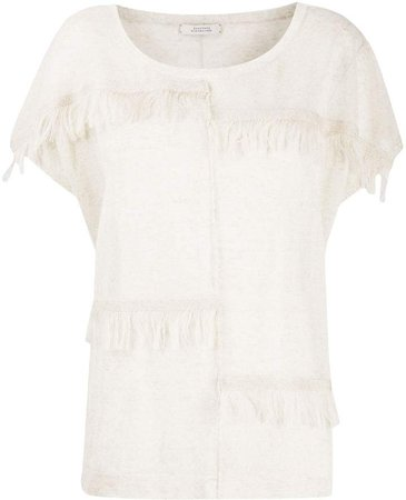 Dorothee fringed knit top