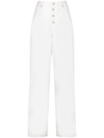 Mm6 Maison Margiela Calça Jeans Pantalona - Farfetch