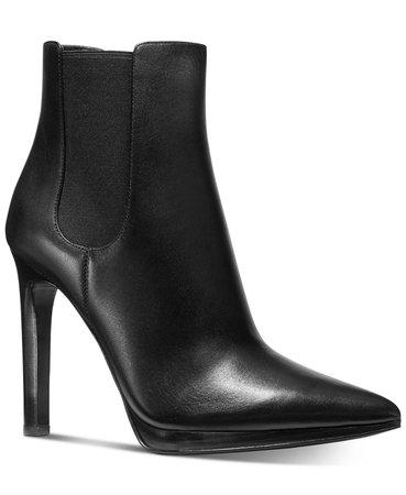 Michael Kors Brielle Booties & Reviews - Boots - Shoes - Macy's black