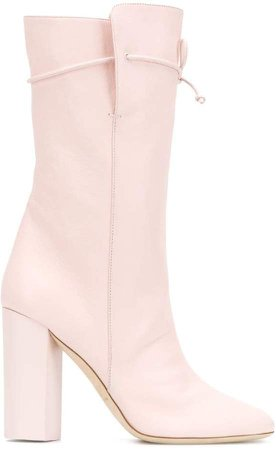 drawstring knee-high boots