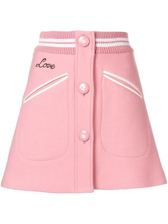 miu miu pink skirt