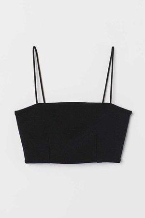 Short Top - Black - Ladies   H&M
