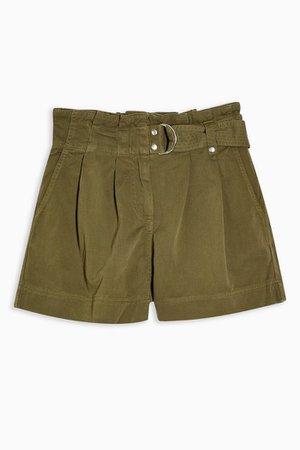 Khaki Utility Shorts | Topshop