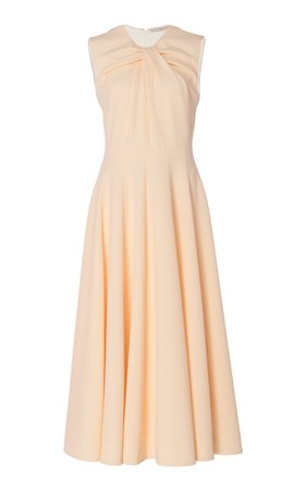 Meryl Gathered Crepe Midi Dress by Emilia Wickstead | Moda Operandi