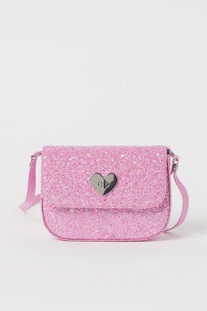 Glittery Shoulder Bag - Pink