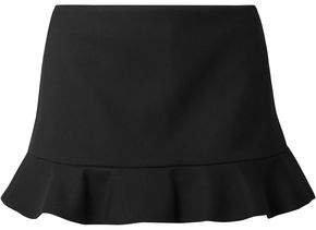 Ruffled Twill Shorts