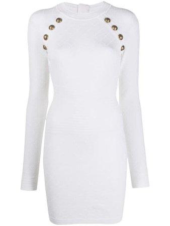 Balmain Button Knit Dress - Farfetch