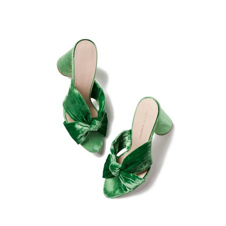 Loeffler Randall | Coco Velvet Heel Sandals | Goop