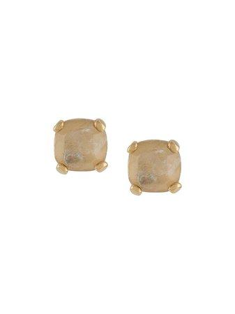 Goossens Stones Rock Crystal Stud Earrings - Farfetch