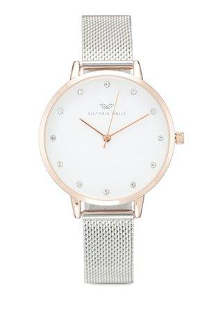Victoria Walls Watches Designer Watch-Elegant Milanese Mesh Strap