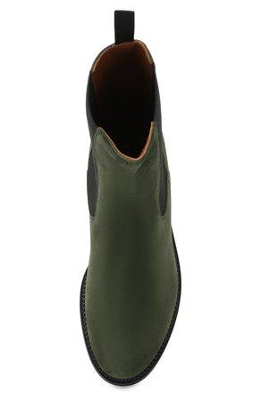 Женские темно-зеленые замшевые челси L'AUTRE CHOSE — купить за 26600 руб. в интернет-магазине ЦУМ, арт. LDK061.30RC0448