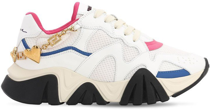 40mm Squalo Mesh & Leather Sneakers