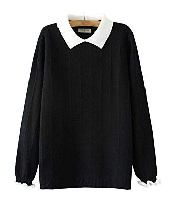 black sweater peter pan collar - Google Search