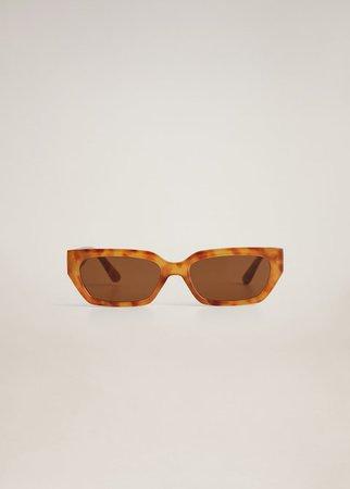 Retro style sunglasses - Women | Mango USA brown