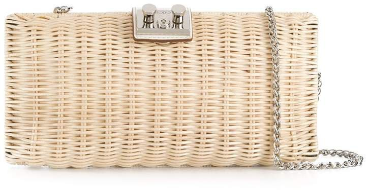 Push-Lock Basket Cross Body Bag
