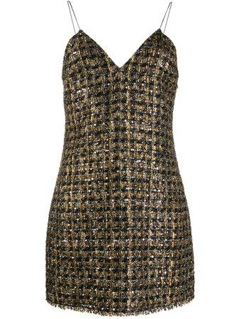 Balmain Metallic Short Dress | Farfetch.com