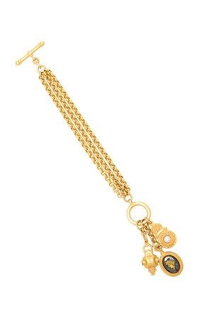 24K Gold-Plated Charm Bracelet by Ben-Amun | Moda Operandi