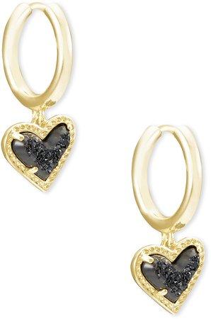 Ari Heart Huggie Hoop Earrings
