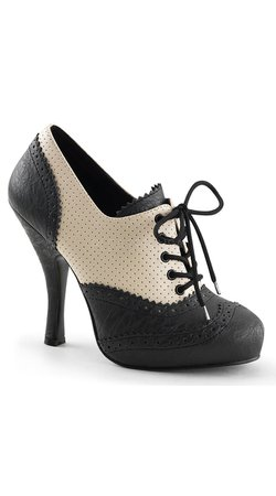 Perforated Lace Up Oxford Bootie, Oxford Dress Shoes, Lace Up Ankle Booties