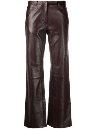 Sandro Paris, high-rise straight leg trousers