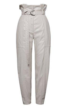 Leela Faux-Leather Paperbag-Waist Trousers By Jonathan Simkhai   Moda Operandi