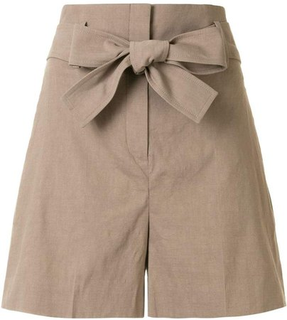 Belted Flared Shorts