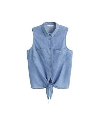 MANGO Sleeveless soft shirt