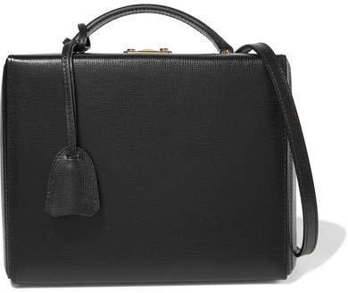 Grace Large Textured-leather Shoulder Bag - Black