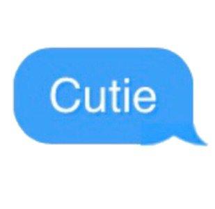 cutie text words