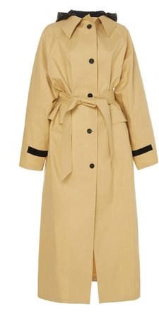 Kassl Hooded And Belted Cotton Trench Coat