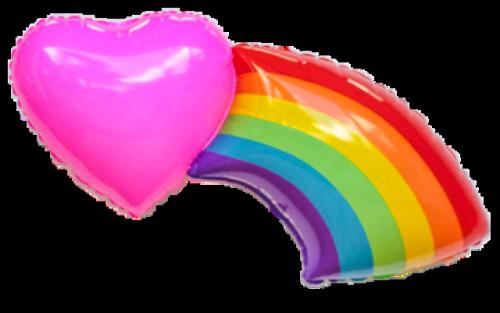rainbow heart balloon