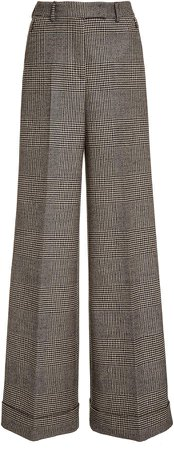 Akris Flore Wide-Leg Wool Pants