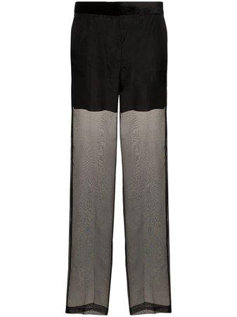 Helmut Lang Sheer Organza Trousers | Farfetch.com