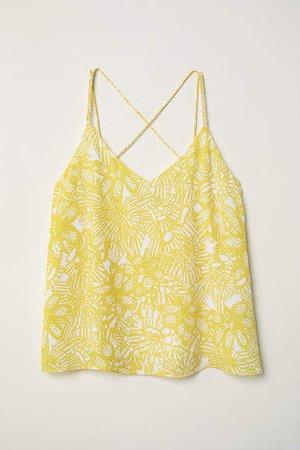 Chiffon Camisole Top - Yellow