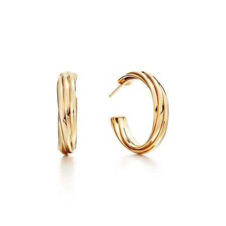 Paloma's Melody hoop earrings in 18k gold, small. | Tiffany & Co.